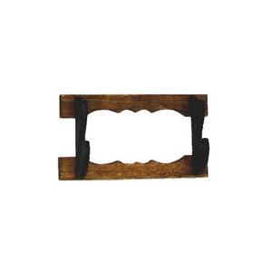 Mini Handcrafted Wood Wall Mount Rifle Gun or Gun Rack