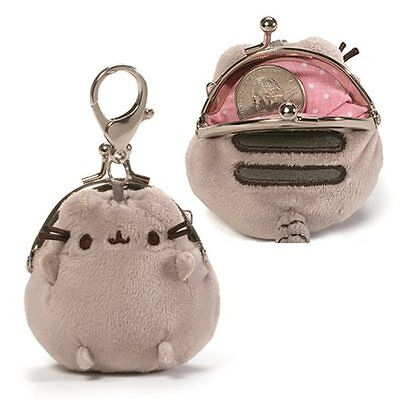 Gund New * Pusheen Coin Purse * 3-Inch Tabby Kitty Stuffed Toy Plush Plushie