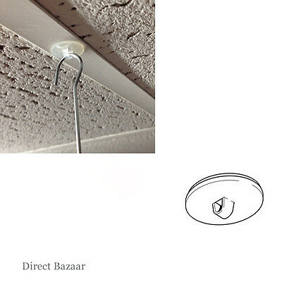20 x Clear Round Adhesive Base Ceiling Hanging, Diameter: 20mm