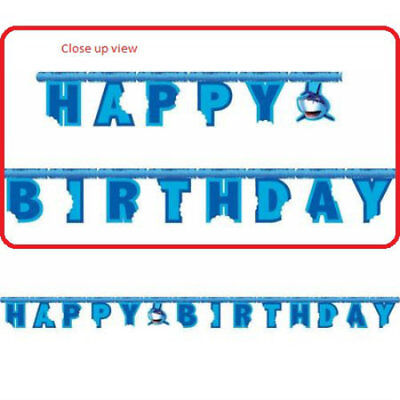 Shark Splash Party Banner - Birthday Party Supplies - Shark Birthday Supplies