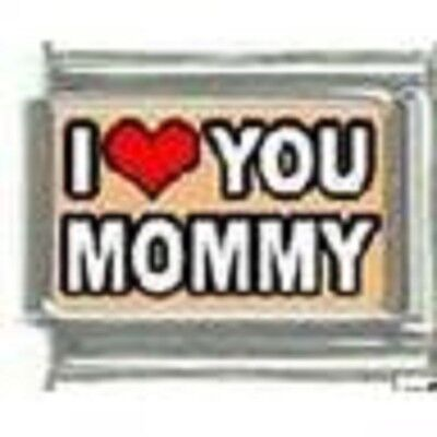 I red heart you Mommy  WHOLESALE ITALIAN CHARM in stainless steel 9MM - Mommy Wholesale