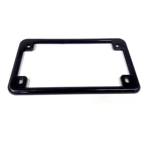 Motorcycle License Plate Frame Black Ebay