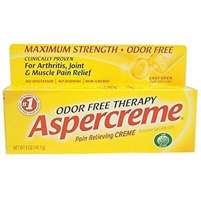 ASPERCREME Pain Relieving Crème, Odor Free Therapy, Max. Strength Stainless, (Aspercreme Odor Free Therapy)