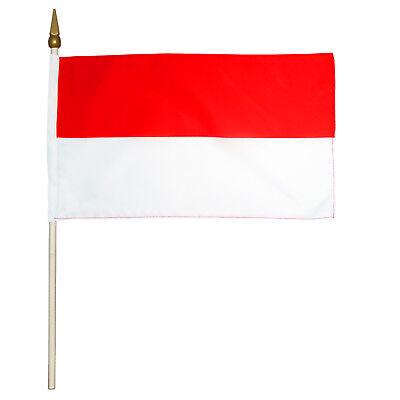 Stock Flagge Schützenfest rot weiß 5 Stück 30x45 cm Fahne Kirmes Querformat