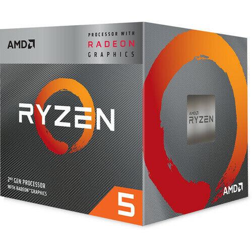 AMD Ryzen 5 3400G Unlocked Desktop Processor with Radeon RX Graphics - 4 Cores A