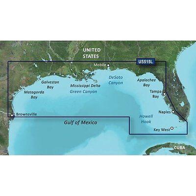Garmin BlueChart g2 Vision HD VUS515L Brownsville- Key Largo Gulf of Mexico 2015