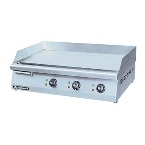 "Adcraft Grid-30 30"" Electric Countertop Griddle With Flat Griddle Surface"