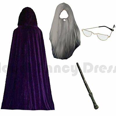 Herren Erwachsene Lila Zauberer Kostüm Halloween Outfit - Herren Zauberer Kostüm