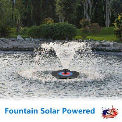solar powered fountain bird bath water pump