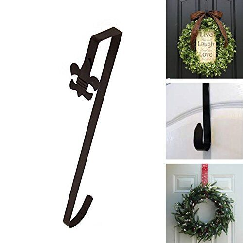 Bronze Fleur De Lis Over Door Holiday Decorative Wreath Hang