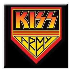 KISS-Army-fridge-magnet-3-square-metal-gift-free-UK-P-P