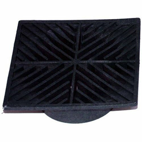 4 Pack: 6 in. Plastic Square Drainage Grate in Black