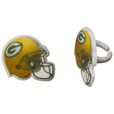 12 Green Bay Packers NFL Football Cupcake Rings Toppers Decorations Party Favors (Green Bay Packers Party Decorations)