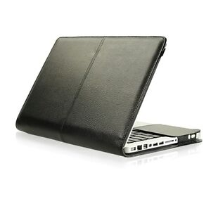 Black Leather Case Cover Bag for Apple Macbook PRO 13
