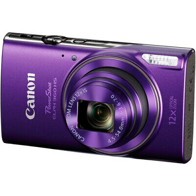 Canon PowerShot ELPH 360 HS Purple Camera with 12x Optical Zoom & Built-In Wi-Fi