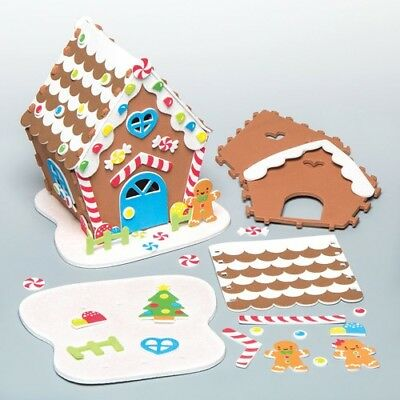 GINGERBREAD HOUSE KITS CREATE AND DISPLAY YOUR OWN FOAM KIT FOR THIS CHRISTMAS