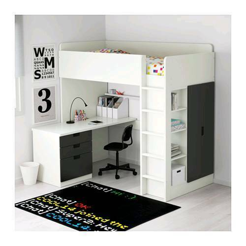 Ikea Stuva Bunk Bed Desk Drawers Wardrobe