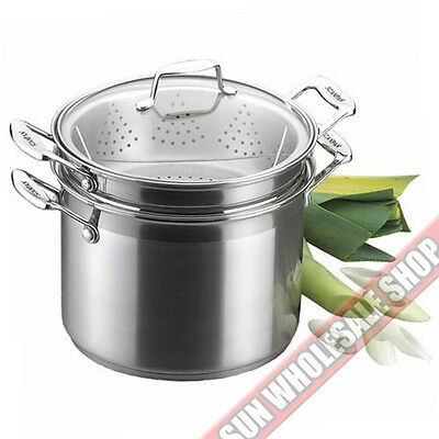 24 Cm Pasta Pot (SCANPAN Impact 3 Piece 24cm Double Pasta Steamer Multi Pot! RRP $329.00! )