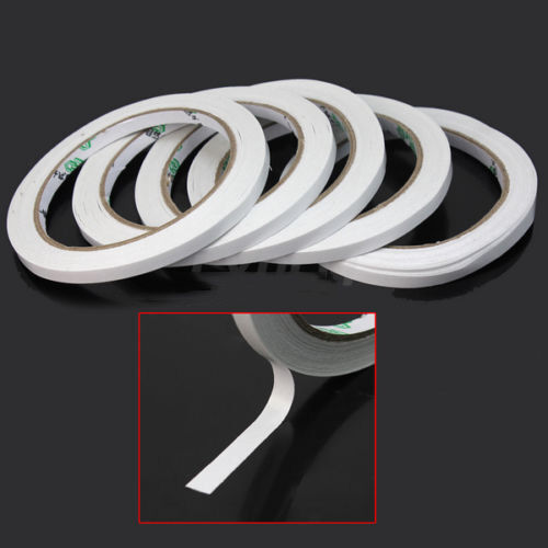 10 Rolls Of 6mm Double Sided Super Strong Adhesive Tape
