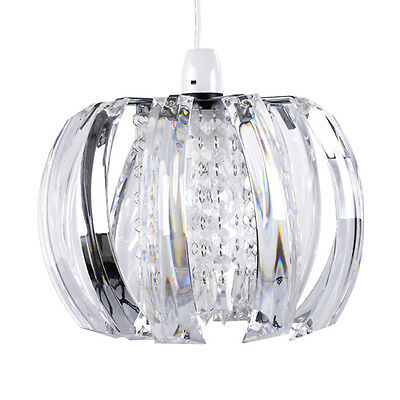 Modern Clear Jewel  Beads Ceiling Pendant Light Lamp Shade Chandelier Lampshade