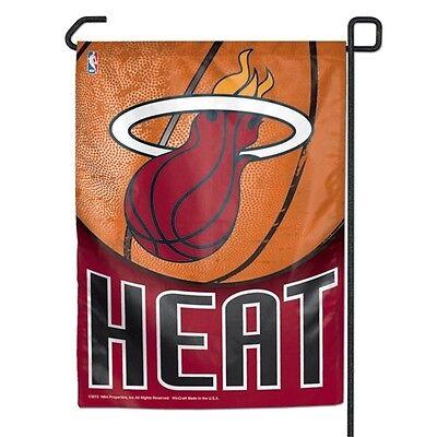 MIAMI HEAT ~ Official NBA 11x15 Garden Flag Banner ~ New! ()