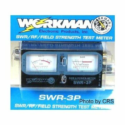 Workman Power SWR Meter for CB Radio 100 Watts Dual Meters S