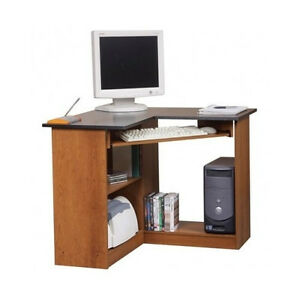 Corner Computer Desk Small Office Furniture Workstation Storage Laptop