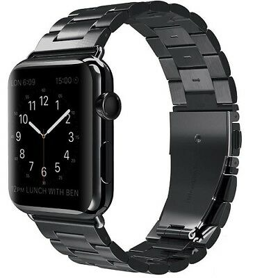 Apple Watch Band 42Mm Replacement Strap Stainless For Iwatch Series 1 2 3 Black