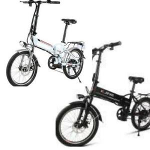 Weekly Promo! High Quality 20 Aluminum alloy Folding eBike, White/Black $1399(was $1799)