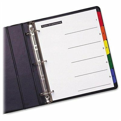 Avery Office Essentials Table N Tabs Numeric Divider - Printed1 - 5 - 5