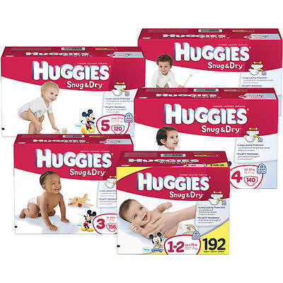 Huggies Snug & Dry Baby Diapers Size N, 1, 2, 3, 4, 5, 6 CHEAP!!! NO TAX