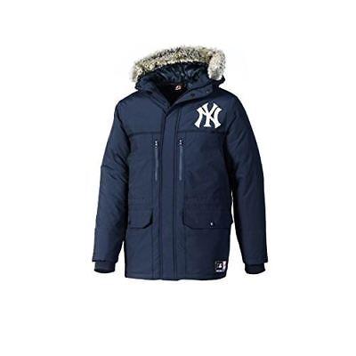 Majestic NYY New York Yankees Artica Zip Up Mens Navy Parka Jacket MNY3459NL DS1