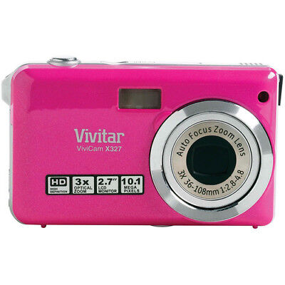 Vivitar ViviCam X327 10.1 MP Digital Camera with 2.7 Inch LCD in Pink