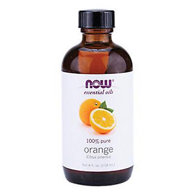 Orange Oil (100% Pure), 4 oz - NOW Foods Essential Oils
