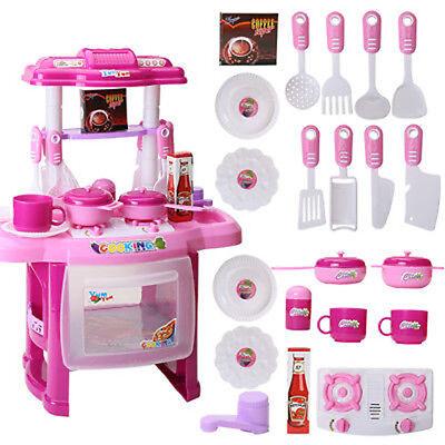 Kinderküche Spielküche Spielzeug Kinder Küche mit Zubehör Lebensmittel