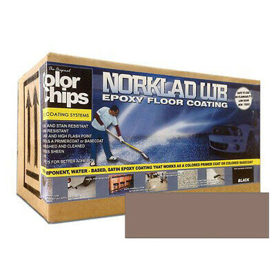 Norklad Wb - Waterborne Epoxy Floor Paint Base Coat Wheat 1 Gallon Kit