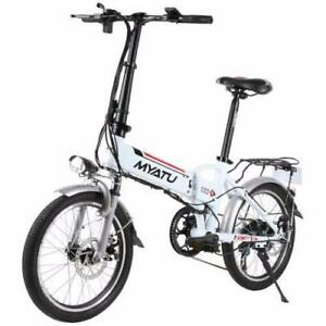 "Summer Promotion! High Quality   20"" Aluminum alloy Folding eBike, LOT DM200, White/Black $1399(was $1799)"