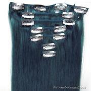 Clip in Hair Extensions Blue Full Head