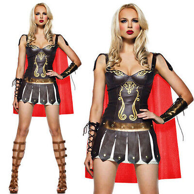 Womens Medieval Gladiator Costume Warrior Xena Princess Fancy Dress Outfit - Xena Princess Warrior Costume