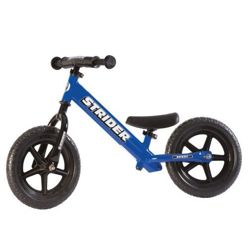 STRIDER 12 Sport Balance Bike Kids No Pedal Learn To Ride Bicycle Blue NEW