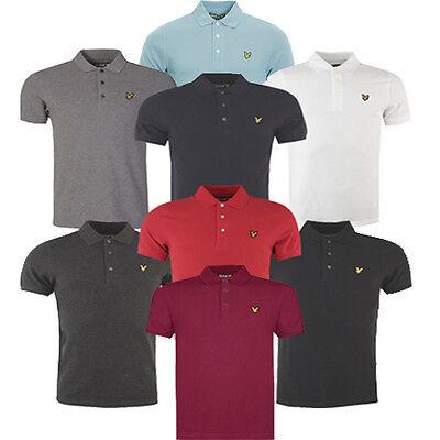 Lyle & Scott Short Sleeve Cotton Plain Pique Polo Mens Shirts SP100CL KB