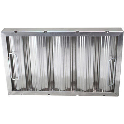 """BAFFLE-TYPE GREASE FILTER W/Handles Galvanized 10"""" X 20"""" X 2"""" for CHG 261765"""
