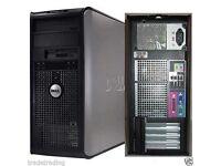 Windows 7 Dell Core 2 Duo 3.00GHz Tower PC Computer - 4GB RAM - 250GB HD Wi-Fi