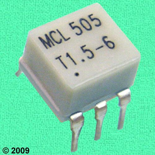 (5) HF/VHF 1:1.5 (50Ω:75Ω) RF Transformers, LOW LOSS 0.2 dB @ 10 MHz, MCL T1.5-6