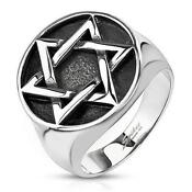 Mens Star of David Ring