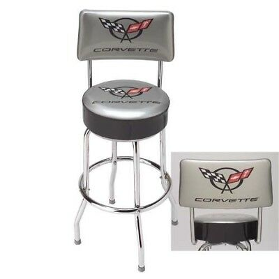 C5 CORVETTE BAR STOOL COUNTER SHOP WITH BACK REST MADE IN USA! 96 - 2004 ()