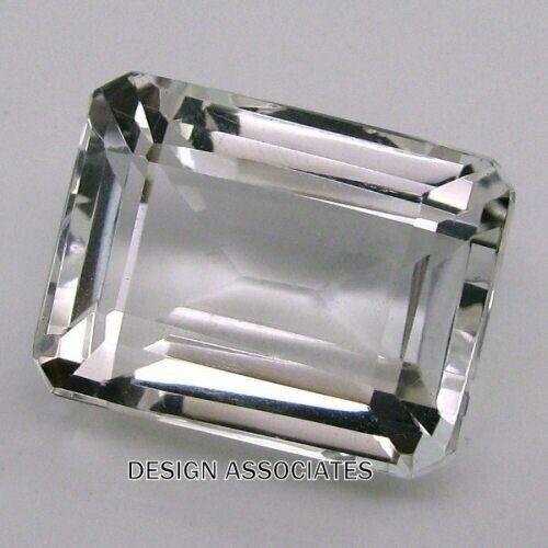 DIAMOND QUARTZ 8 x 6 MM EMERALD CUT ALL NATURAL AAA 2 PC SET F-3222