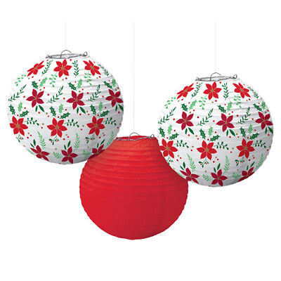 CHRISTMAS Traditional PAPER LANTERNS (3) ~ Birthday Party Supplies Decorations](Christmas Paper Decorations)