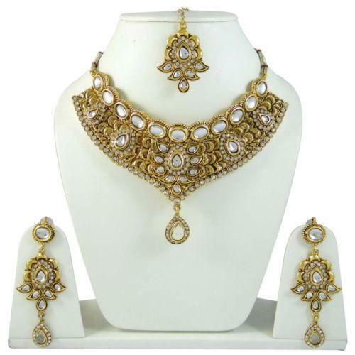 4056 Indian Bridal Jewelry Bollywood New Necklace Ethnic: Indian Bridal Jewelry Gold