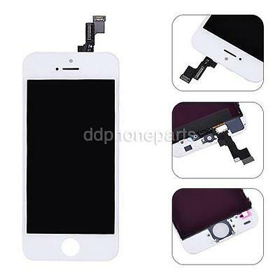 White LCD Screen Touch Digitizer Frame Assembly Replacement For iPhone 5S SE